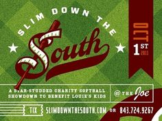 Dribbble - Slim Down The South by J Fletcher Design #lettering #badge #label #lockup #fletcher #type #layout #typography