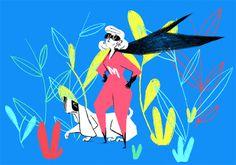 Tiffany Beucher #supergirl #illustration #dog