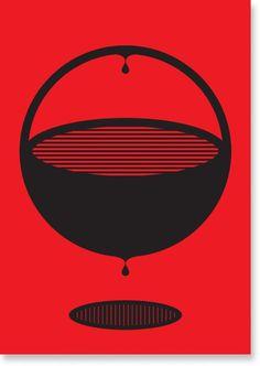 Dot by Savas Ozay #red #black #illustration #pill #poster