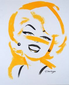 Retro Blonde Babe by Darwyn Cooke #girls #illustration #darwyn #brush #cute #cartoon #cooke