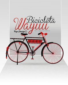 Bicicleta Wayuu Diseño de Armando Valbuena... | #red #bicycle #cycle #design #illustration #wayuu