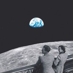 the climb: part III by Edgar Hernandez  #earth #collage #universe #climbers #space #moon