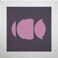 Geometry Daily #geometry #pink #circles #geometric #minimal #poster #art