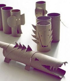 60 Homemade Animal Themed Toilet Paper Roll Crafts #diy #crafts #toilet