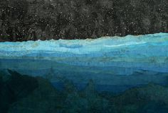 Matthew Cusick : Paintings #ocean #sky #map #sea #art