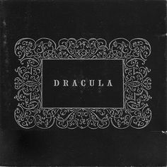 Dracula, Philip Glass & Kronos Quartet. Alternate cover #album #white #kronos #quartet #dracula #gothic #horror #black #cover #monochrome #ornament #typography