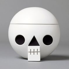 Acne JR | Cranium White #wood #skull