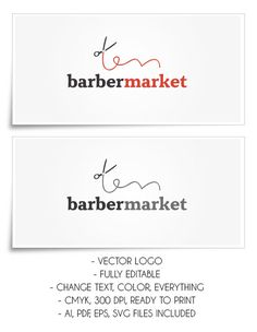 Logo For Your Company (BarberMarket) #logo #barber