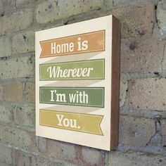 Home is Wherever I'm With You Wood Block Print by LuciusArt #kevin #lucius #vintage #art