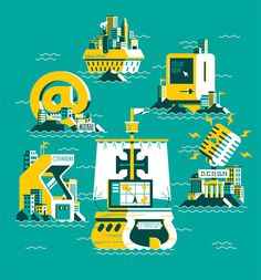 Editorial Illustrations by Marco Goran Romano   Inspiration Grid   Design Inspiration #flat #illustration #vector