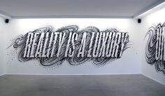 Gemma O Brien — The Jacky Winter Group #lettering #white #mural #reality #hand-drawn #black #wall #type