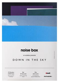Noise Box #white #sky #design #marianofiore #arantxarueda #poster #music #type #collage #blue