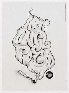 Art until the end #lettering #smoke #illustration #drawing #typography