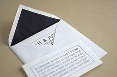 #Black and white #letterpress #wedding #invitation