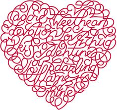 Valentines day #heart #type #lettering #holiday