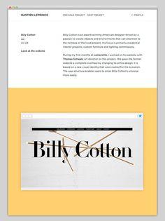 Bastien Leprince #website #layout #design #web