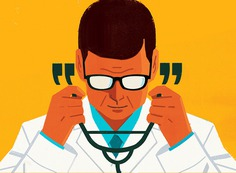 AARP The Magazine | How to get your doctor to listen to you #illustration