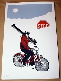 Meet John Fellows | Sideroom.com #bicycle #print #fellows #denver #snow #colorado #john #bike #art