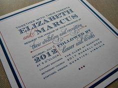 Creative Type wedding invitation