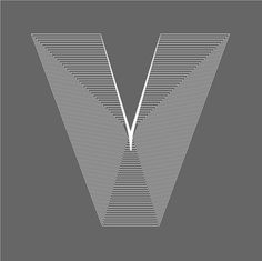 Letter V | Flickr - Photo Sharing! #design #graphic #identity #poster #logo