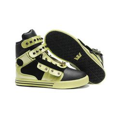 High Supra TK Society Skate Shoes with Black Green - Mens #shoes