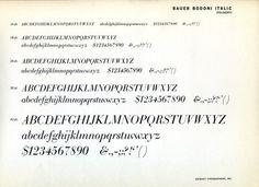 Bauer Bodoni Italic. #typography
