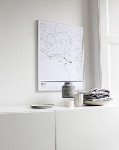 Minimal Oslo Map print