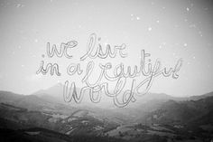 Heartbeat   Flickr - Photo Sharing! #isabelle #white #black #mountains #stars #laydier #and #pencil #typography