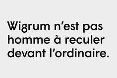 WIGRUM #typeface