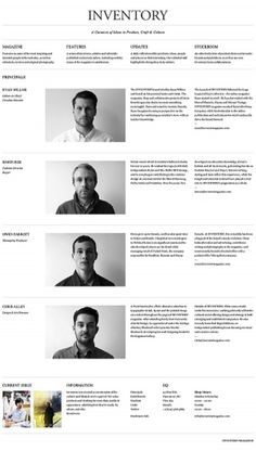 Inventory Magazine on the Behance Network #web #awesome