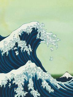 Uprisings | Kozyndan #kanagawa #giant #off #robot #wave #hokusai #great #magazine