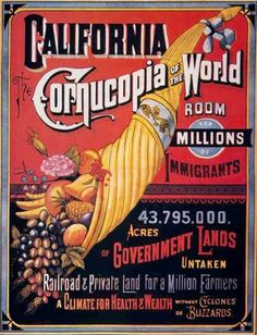 Ca-cornucopia_of_the_world.jpg (459×600) #type #vintage #california #typography