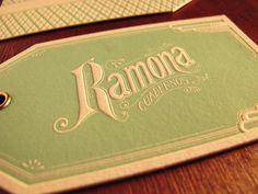 ramona_03 #green #type #logo