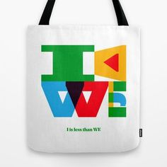 I<WE #bag #tote #society6 #typography