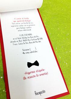 Wedding Invitation /Invitación de Boda #groom #invitation #impreso #print #novia #bride #invitacin #novio #wedding
