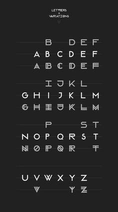 Modular Font #font #vector #white #avant #black #letter #uppercase #futura #garde #typography