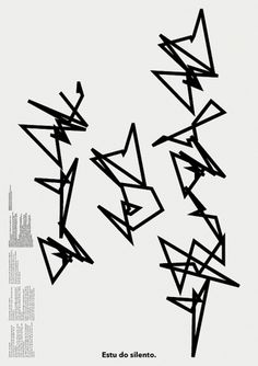 Estu do silento. (Vasil Artamonov, Alexey Klyuykov) | advancedesign / graphic self-service #gallery #white #black #poster #and #czech