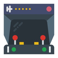 See more icon inspiration related to gamer, arcade, game console, gaming, leisure, device, electronic, technology and multimedia on Flaticon.