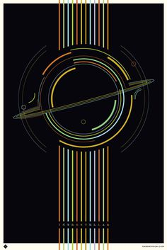 Poster By James Viola #inspiration #design #print #poster #creative #movie #film #interstellar #unique #space