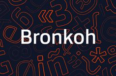 Bronkoh Font Family