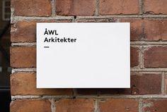Ã…WL Arkitekter by Henrik Nygren #sign #logotype #typography