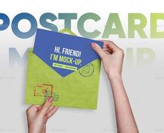Postcard PSD mockup Template