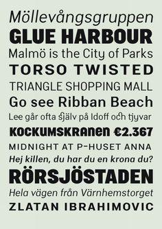 Malmö Sans by Martin Lexelius
