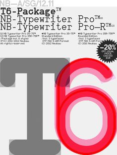 NBL_T6 Package #neubau typography