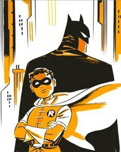 Darwyn Cooke Batman and Robin, in RonPittman's For Sale Comic Art Gallery Room