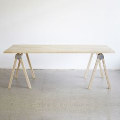 A-Joint Trestle Table by Henry Wilson #minimalist #design #table #minimal