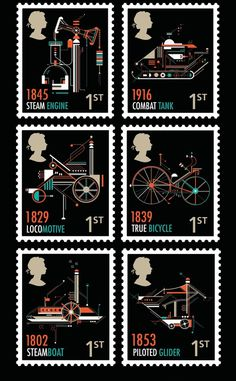 RSA Stamps on Behance #post #stamps #design #graphic