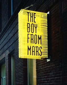 The Boy from Mars Storefront Neon Light Street Signage #design #graphic #typography