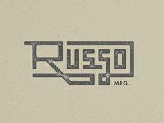Russo MFG. #logo #branding #typography