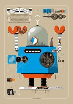FFFFOUND! | Robots! on the Behance Network #inspiration #illustration #design #robots